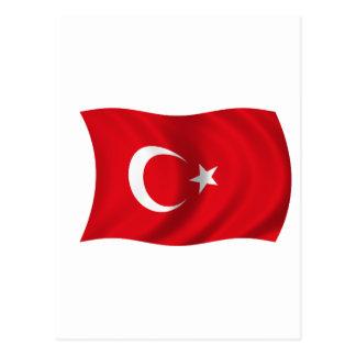 Cartão Postal Bandeira de Turquia