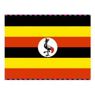 Cartão Postal Bandeira de Uganda