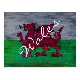 Cartão Postal Bandeira de Wales - bandeira de Galês -