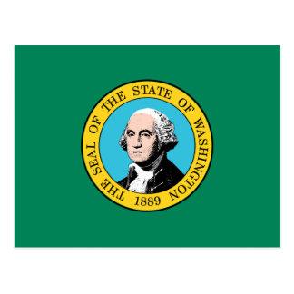 Cartão Postal Bandeira de Washington