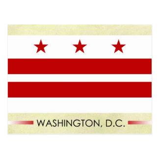 Cartão Postal Bandeira de Washington, C.C.