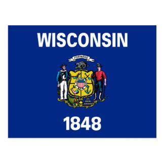 Cartão Postal Bandeira de Wisconsin