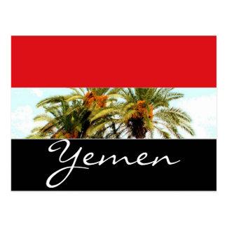 Cartão Postal Bandeira de Yemen
