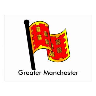 Cartão Postal Bandeira do condado de maior Manchester