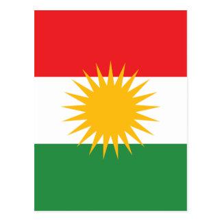 Cartão Postal Bandeira do Curdistão; Curdo; Curdo