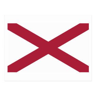 Cartão Postal Bandeira do estado de Alabama