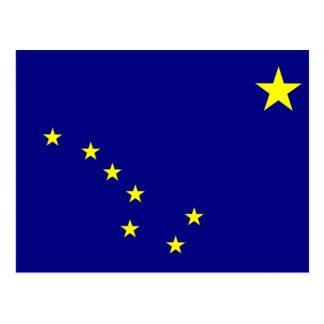 Cartão Postal Bandeira do estado de Alaska