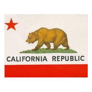 Cartão Postal Bandeira do estado de Califórnia