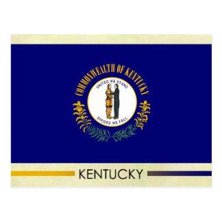 Cartão Postal Bandeira do estado de Kentucky