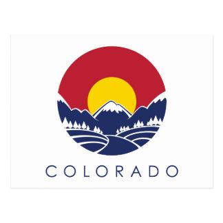 Cartão Postal Bandeira do estado de montanha rochosa de Colorado