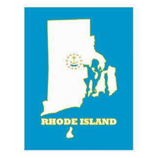 Cartão Postal Bandeira do estado de RI