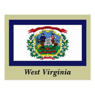 Cartão Postal Bandeira do estado de West Virginia