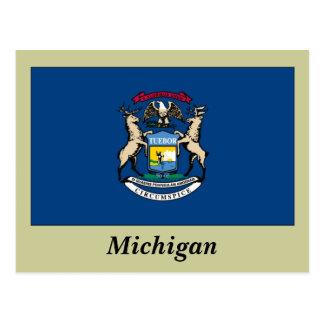 Cartão Postal Bandeira do estado do Michigan