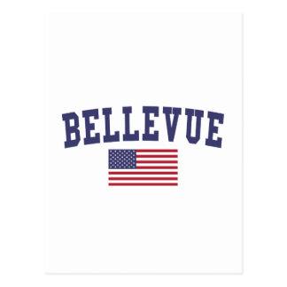 Cartão Postal Bandeira do NE E.U. de Bellevue