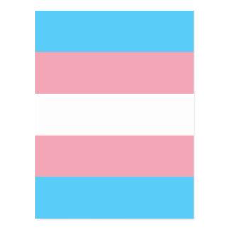 Cartão Postal Bandeira do orgulho do Transgender - arco-íris do