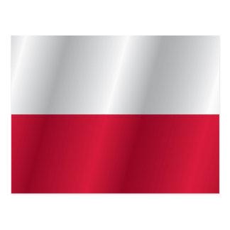 Cartão Postal Bandeira do Polônia