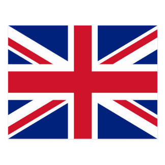 Cartão Postal Bandeira do Reino Unido - versão autêntica de