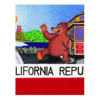 Cartão Postal Bandeira do urso de San Francisco Califórnia