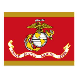 Cartão Postal Bandeira do USMC