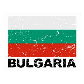 Cartão Postal Bandeira do vintage de Bulgária