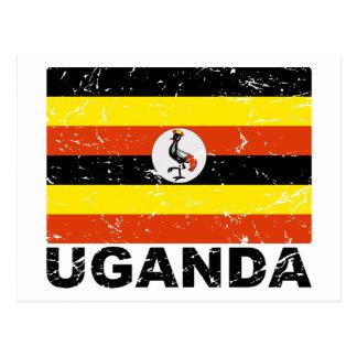 Cartão Postal Bandeira do vintage de Uganda