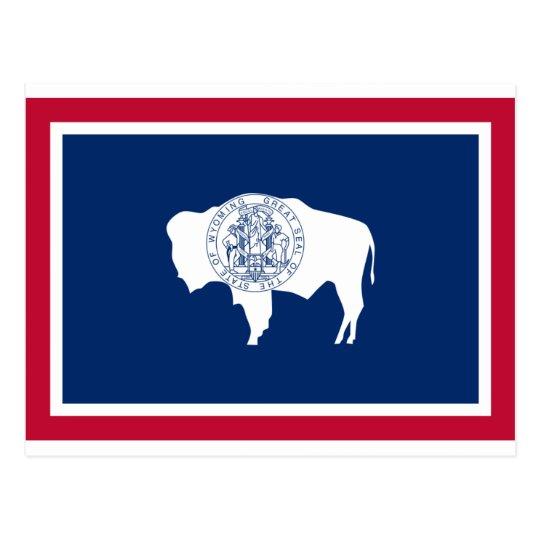 Cartão Postal Bandeira do Wyoming