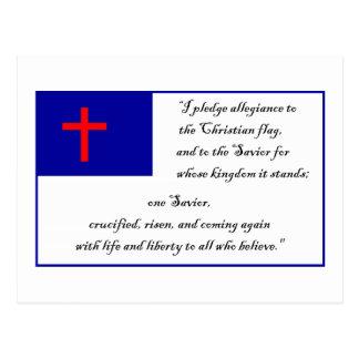 Cartão Postal Bandeira e garantia cristãs à bandeira cristã