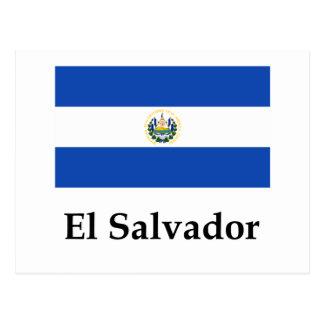 Cartão Postal Bandeira e nome de El Salvador