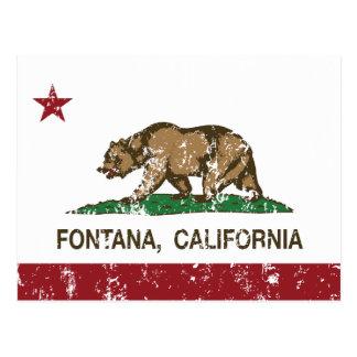 Cartão Postal Bandeira Fontana do estado de Califórnia