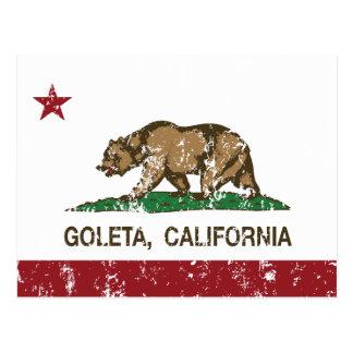 Cartão Postal Bandeira Goleta do estado de Califórnia