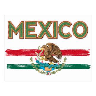 Cartão Postal Bandeira mexicana de México