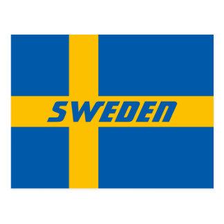 Cartão Postal Bandeira nacional da suecia