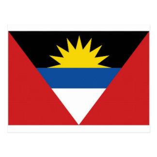 Cartão Postal Bandeira nacional de Antígua Barbuda