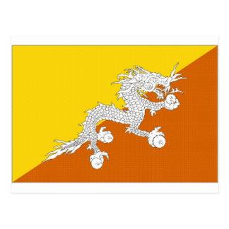 Cartão Postal Bandeira nacional de Bhutan