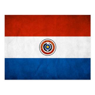 Cartão Postal Bandeira nacional de Paraguai