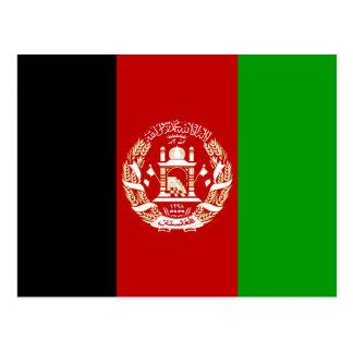 Cartão Postal Bandeira nacional do mundo de Afeganistão