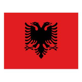 Cartão Postal Bandeira nacional do mundo de Albânia