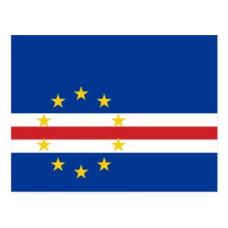Cartão Postal Bandeira nacional do mundo de Cabo Verde