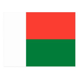 Cartão Postal Bandeira nacional do mundo de Madagascar
