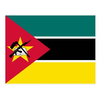 Cartão Postal Bandeira nacional do mundo de Mozambique