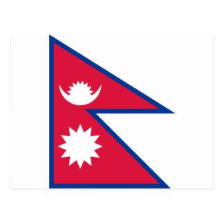 Cartão Postal Bandeira nacional do mundo de Nepal