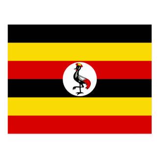 Cartão Postal Bandeira nacional do mundo de Uganda