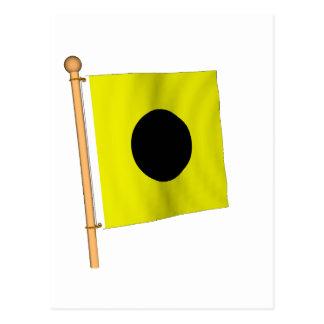 Cartão Postal Bandeira náutica 'I