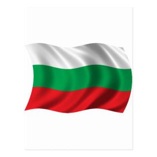Cartão Postal Bandeira ondulada de Bulgária