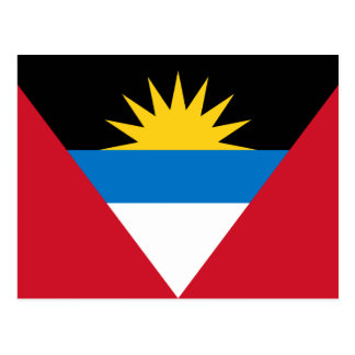Cartão Postal Bandeira patriótica de Antígua e de Barbuda