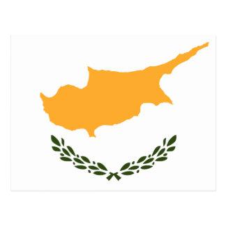 Cartão Postal Bandeira patriótica de Chipre
