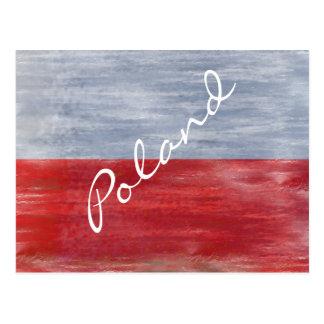 Cartão Postal Bandeira polonesa afligida Polônia
