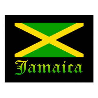 Cartão Postal Bandeira, preto, verde e amarelo de Jamaica
