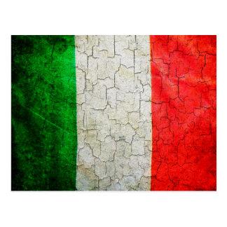 Cartão Postal Bandeira rachada de Italia