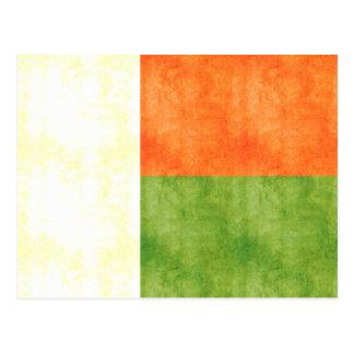 Cartão Postal Bandeira retro de Madagascar do vintage